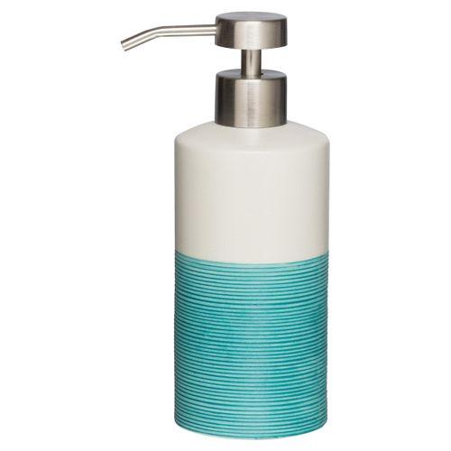 Distributeur de savon Sealskin Doppio porcelaine aqua bleu