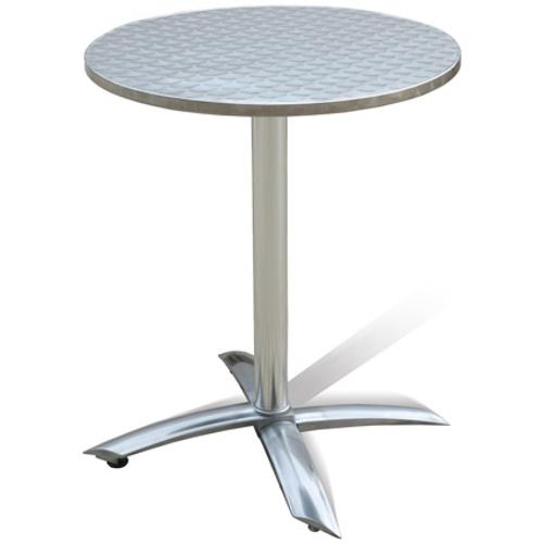 Table bistro Central Park 'Katy' aluminium gris Ø 60 cm