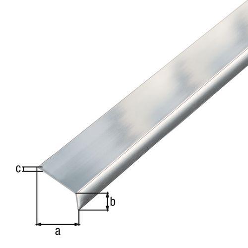Profil d'angle GAH Alberts adhésif aluminium chrome 20x10x1mm 2m