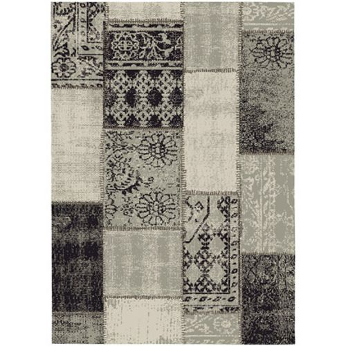 Vloerkleed Fajah vintage patchwork bruin 160 x 230 cm