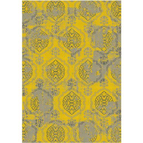 Vloerkleed Tirza vintage geel 160 x 230 cm