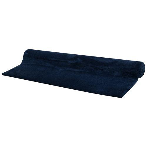 Vloerkleed Belle geweven zacht donkerblauw 160 x 230 cm