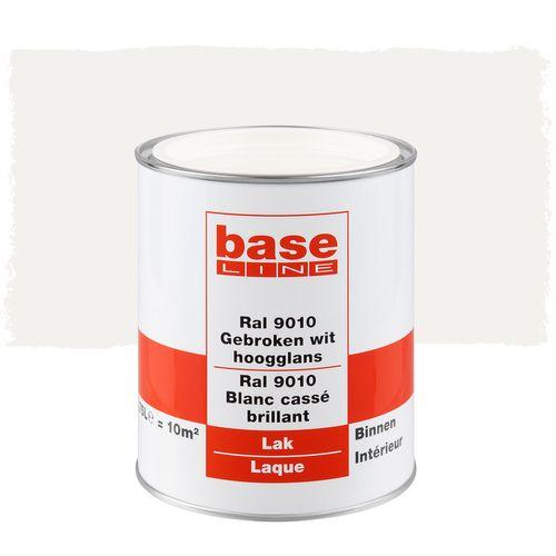 Baseline lak hoogglans gebroken wit RAL 9010 750ml