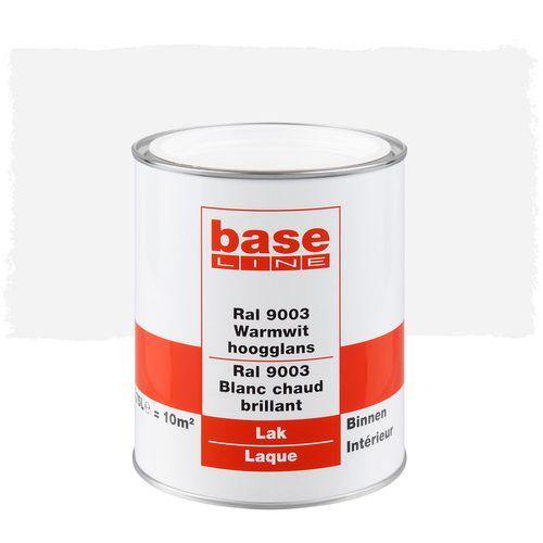 Baseline lak hogglans signaal wit RAL 9003 terpentinebasis 750ml
