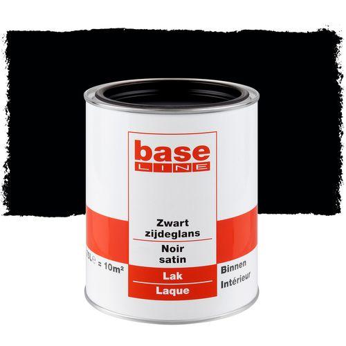 Baseline lak zijdeglans zwart 750ml