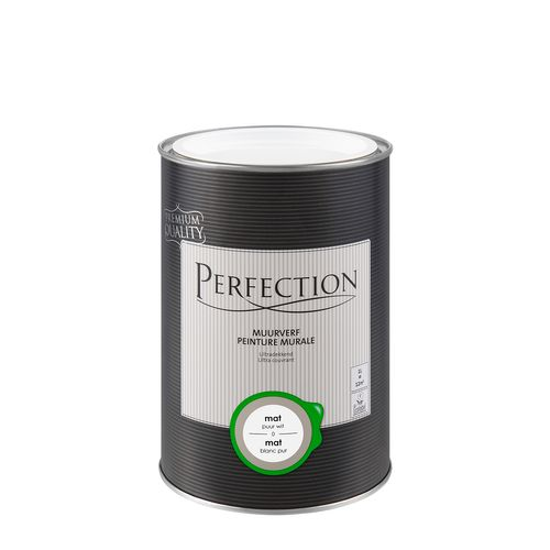 Perfection muurverf Ultradekkend mat puur wit 1L