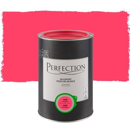 Peinture murale Perfection ultra couvrant framboise 1L