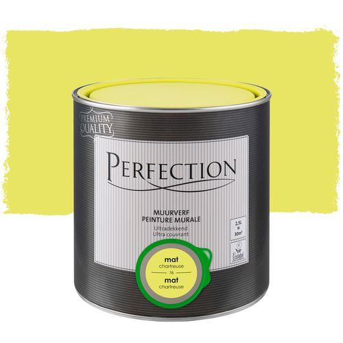 Perfection muurverf ultradekkend chartreuse mat 2,5L