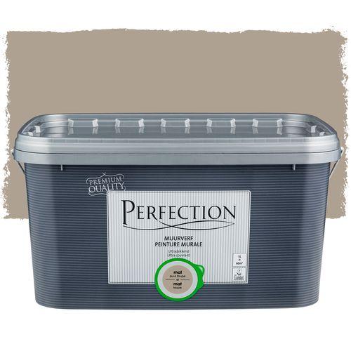 Perfection muurverf Ultradekkend mat taupe 5L