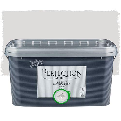 Perfection muurverf ultradekkend mat fluweel grijs 5L