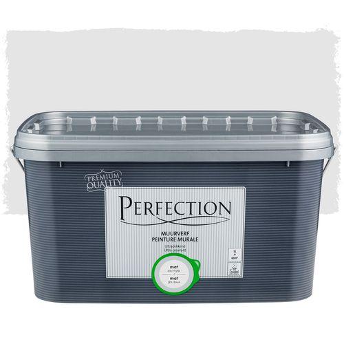 Perfection muurverf ultradekkend mat zachtgrijs 5L