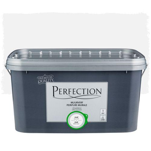 Perfection muurverf ultradekkend mat puur wit 5L