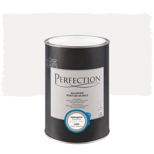 Perfection muurverf Ultradekkend zijdeglans titaniumwit 1L
