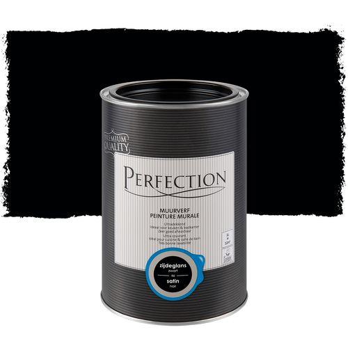 Perfection muurverf Ultradekkend zijdeglans zwart 1L