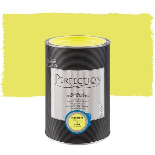 Perfection muurverf Ultradekkend zijdeglans chartreuse 1L