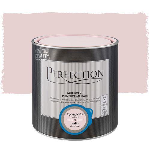 Perfection muurverf ultradekkend zijdeglans oudroze 2,5L