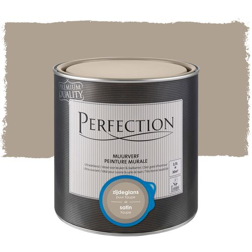 Peinture murale Perfection ultra couvrant satin taupe 2,5L