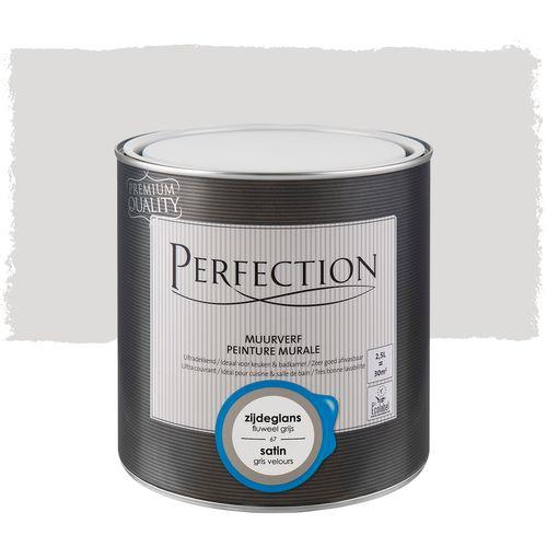 Perfection muurverf Ultradekkend zijdeglans fluweel grijs 2,5L
