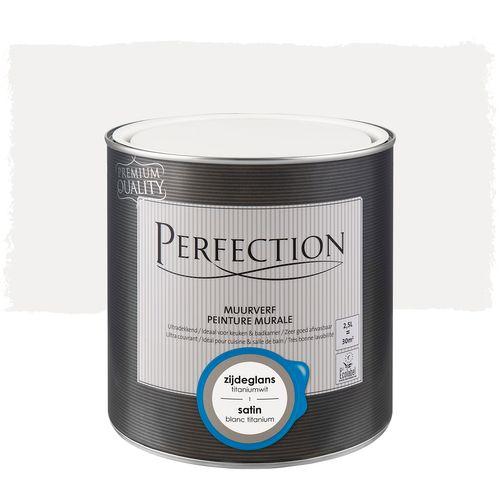 Peinture murale Perfection ultra couvrant satin blanc titanium 2,5L