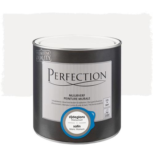 Perfection muurverf ultradekkend zijdeglans titatniumwit 2,5L