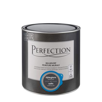 Peinture murale Perfection ultra couvrant satin anthracite 2,5L