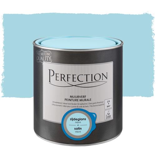 Perfection muurverf ultradekkend zijdeglans aqua 2,5L