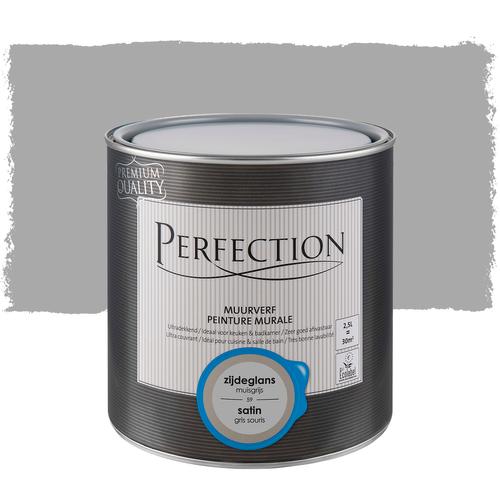 Perfection muurverf ultradekkend zijdeglans muisgrijs 2,5L