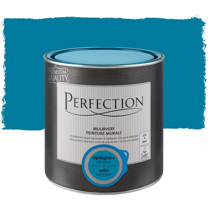Perfection muurverf ultradekkend zijdeglans petrol blue 2,5L