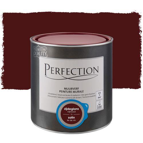 Peinture murale Perfection ultra couvrant satinLie de vin 2,5L
