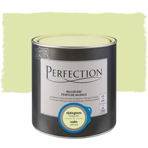 Peinture murale Perfection ultra couvrant satin vert anis 2,5L