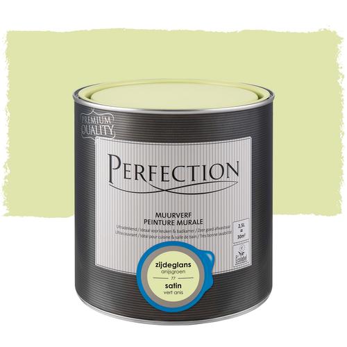 Peinture murale Perfection ultra couvrant satin vert anis 2,5L
