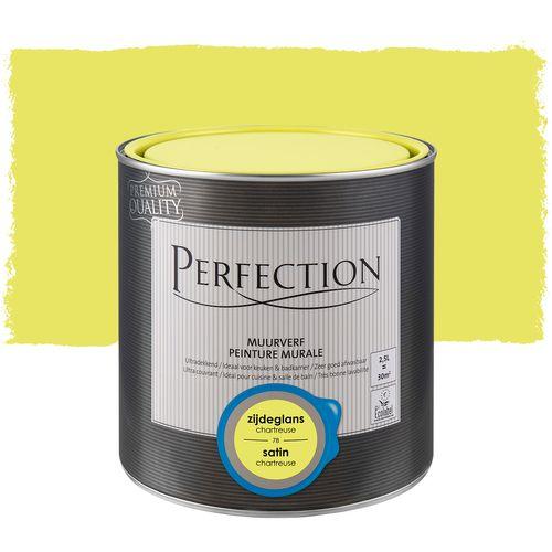 Perfection muurverf Ultradekkend zijdeglans chartreuse 2,5L