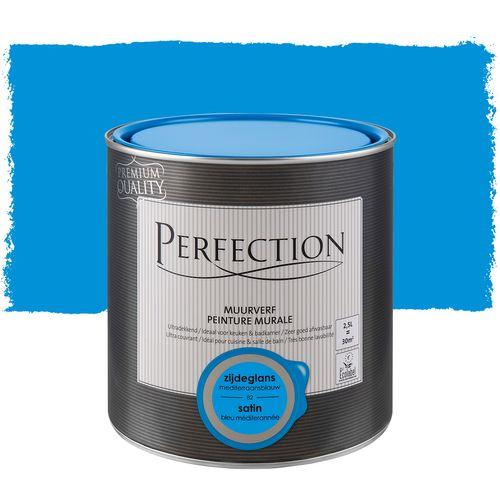 Peinture murale Perfection ultra couvrant satin bleu méditeranée 2,5L