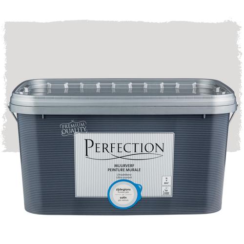 Perfection muurverf ultradekkend zijdeglans fluweel grijs 5L