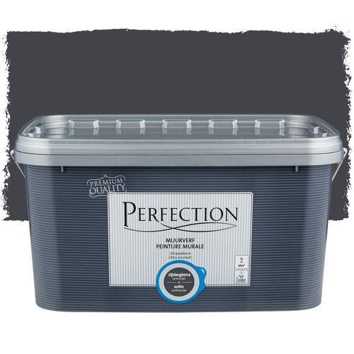 Perfection muurverf ultradekkend zijdeglans antraciet 5L