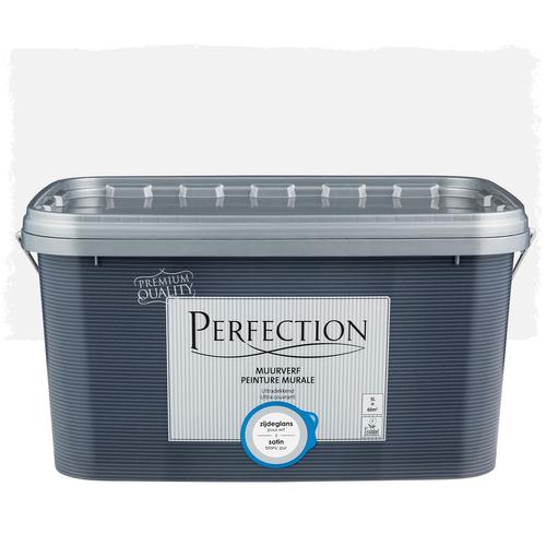 Perfection muurverf ultradekkend zijdeglans puur wit 5L