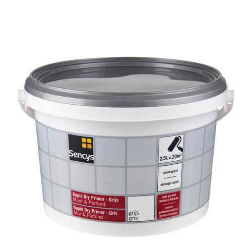 Primer mur et plafond Sencys 'Rapid Dry' gris 2,5 L