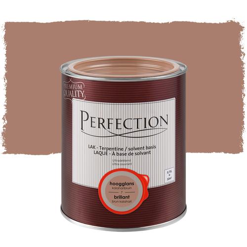 Perfection lak 'Superdekkend' kalahari bruin hoogglans 750ml