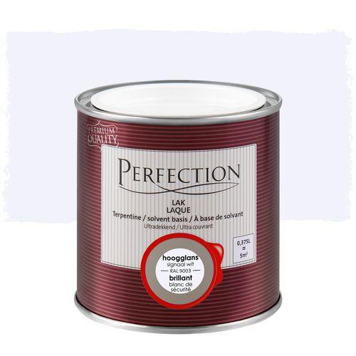 Perfection lak Ultradekkend hoogglans terpentine signaal wit RAL 9003 375ml