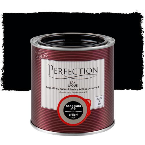 Perfection lak 'Superdekkend' zwart hoogglans 375ml