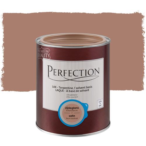 Perfection lak 'Superdekkend' kalahari bruin satijn 750ml