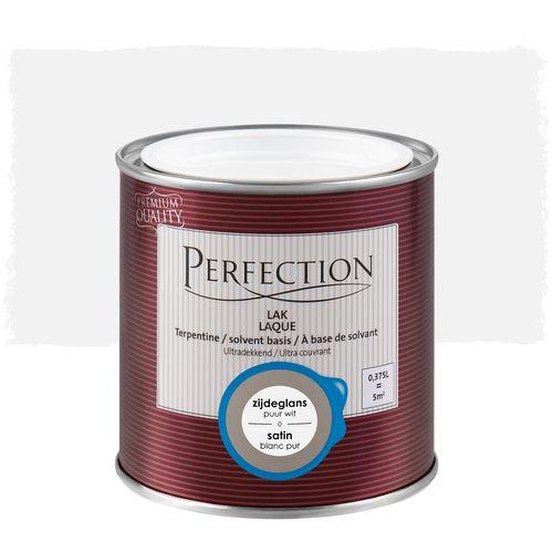 Laque Perfection utra couvrant satin solvant blanc pur 375ml