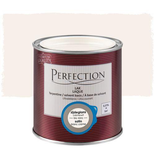 Perfection lak Ultradekkend zijdeglans terpentine basis crèmewit RAL 9001 375ml