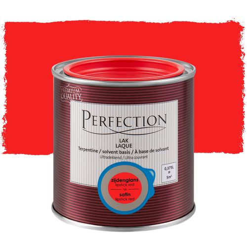 Perfection lak Ultradekkend zijdeglans terpentine basis lipstick red 375ml