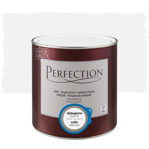 Laque Perfection utra couvrant satin solvant blanc pur 2,5L