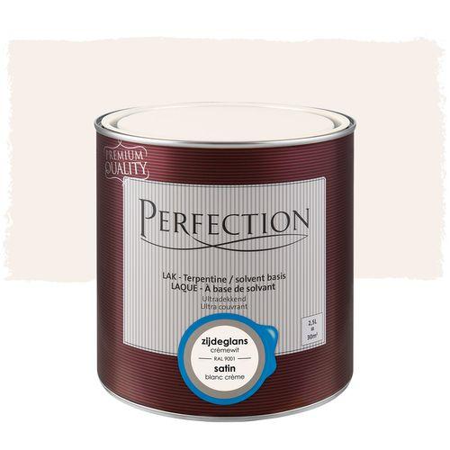 Perfection lak Ultradekkend zijdeglans terpentine basis crèmewit RAL 9001 2,5L