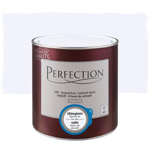 Perfection lak Ultradekkend zijdeglans terpentine basis signaal wit RAL 9003 2,5L