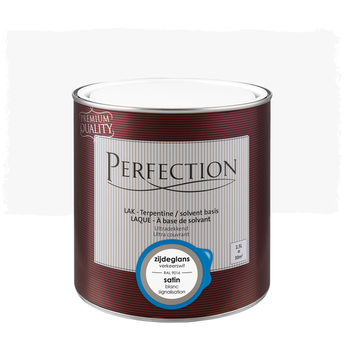 Perfection lak 'Superdekkend' verkeerswit satijn 2,5L