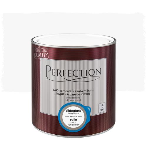 Laque Perfection 'Super Couvrant' blanc signalisation satin 2,5L