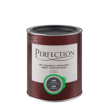 Perfection lak 'Superdekkend' antraciet mat 750ml